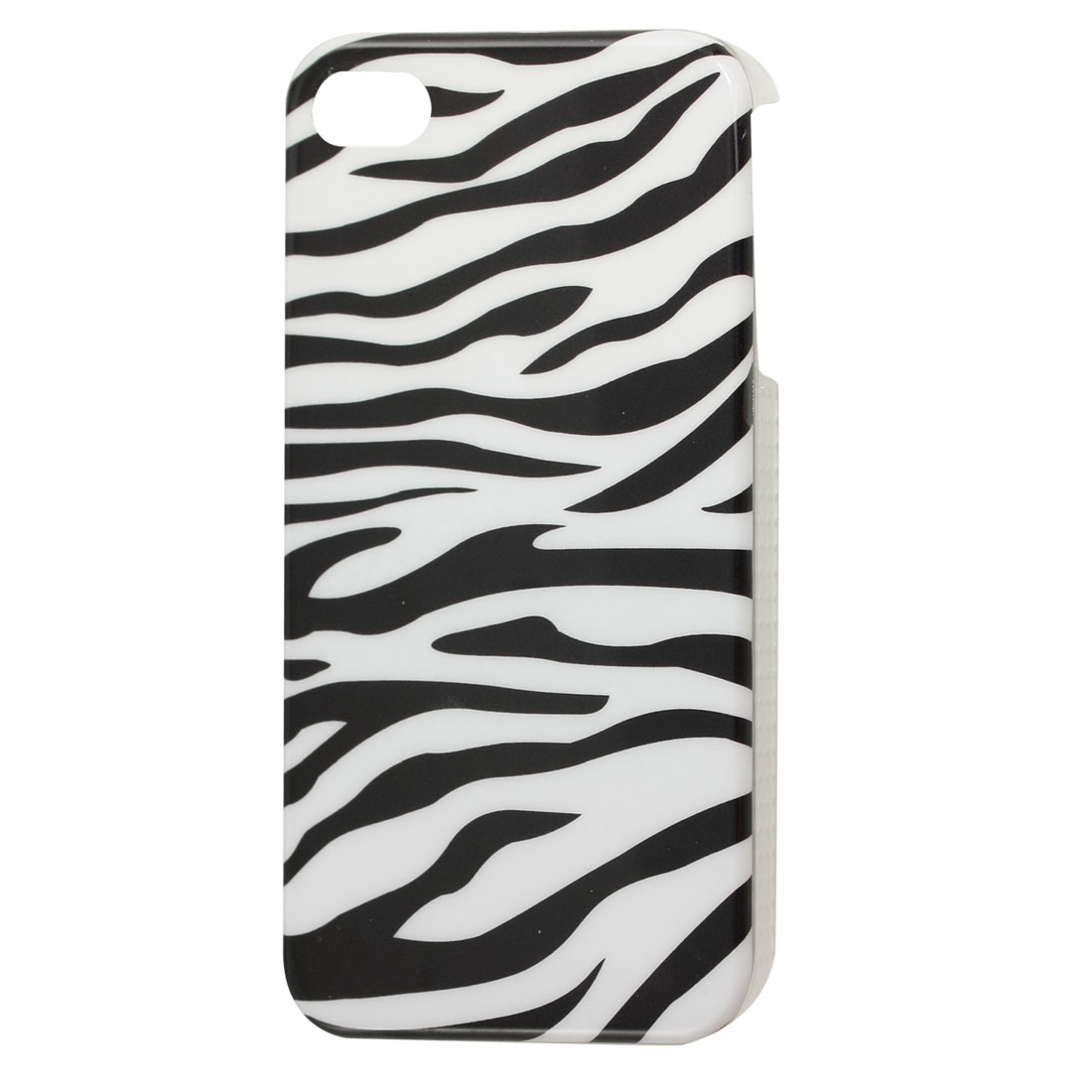 Protective Zebra Stripe IMD Hard Plastic Back Case for iPhone 4 4G 4S