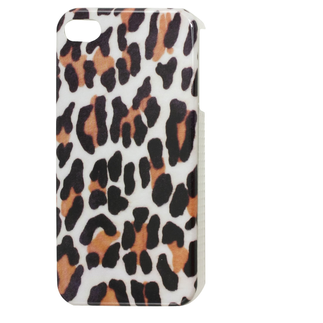 Plastic Black Brown Leopard Print IMD Back Case for iPhone 4 4G 4GS 4S
