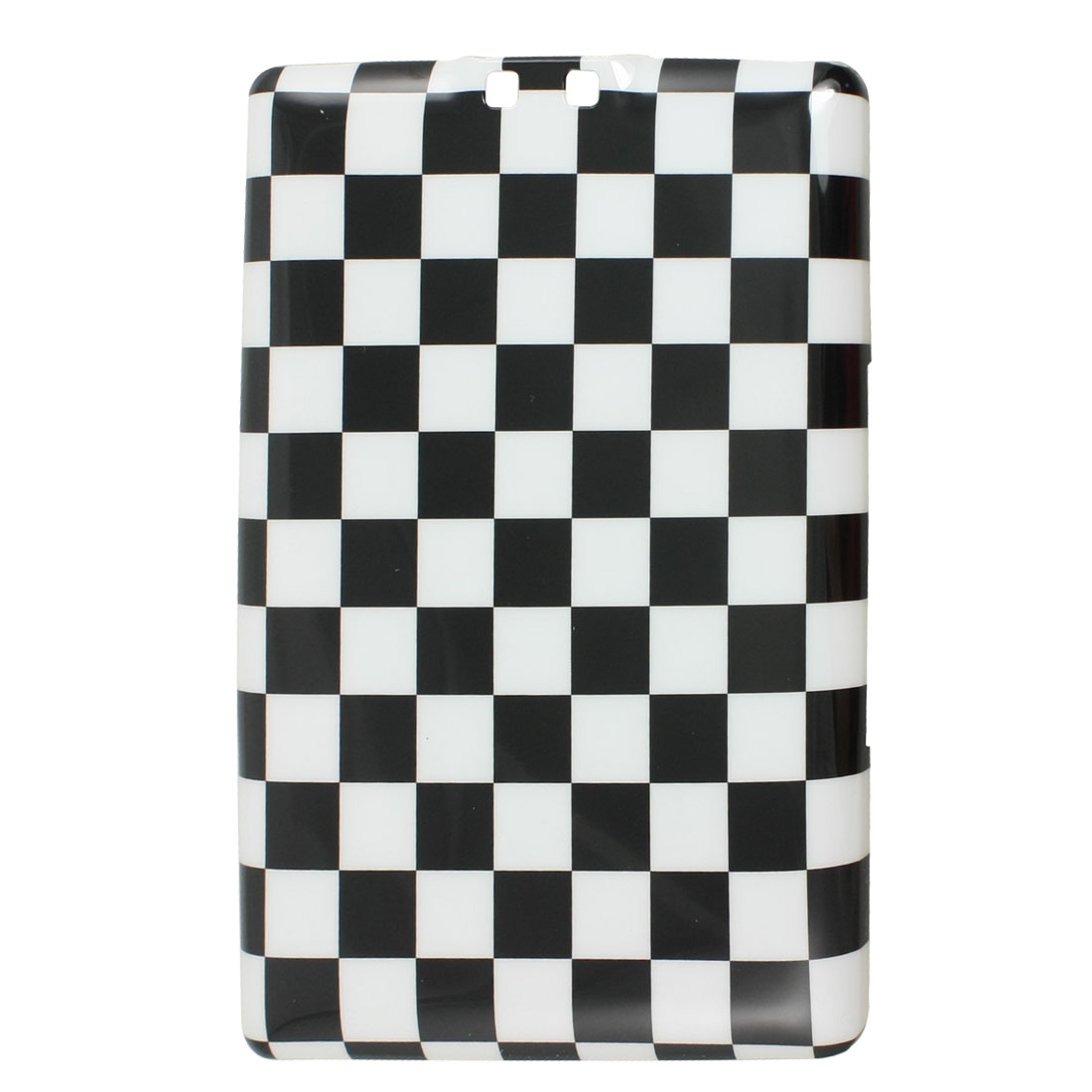 IMD Black White Checker Print Plastic Back Cover for Amazon Kindle 4