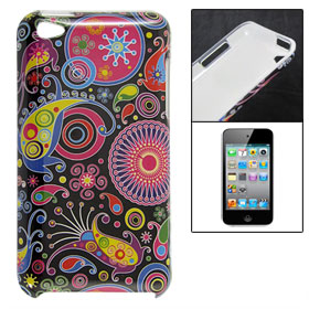 Colorful Ring Prints Hard Plastic IMD Back Case for iPod Touch 4