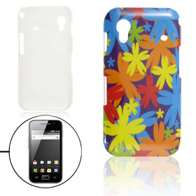 Colorful Flower Prints IMD Hard Plastic Back Case for Samsung Galaxy Ace S5830