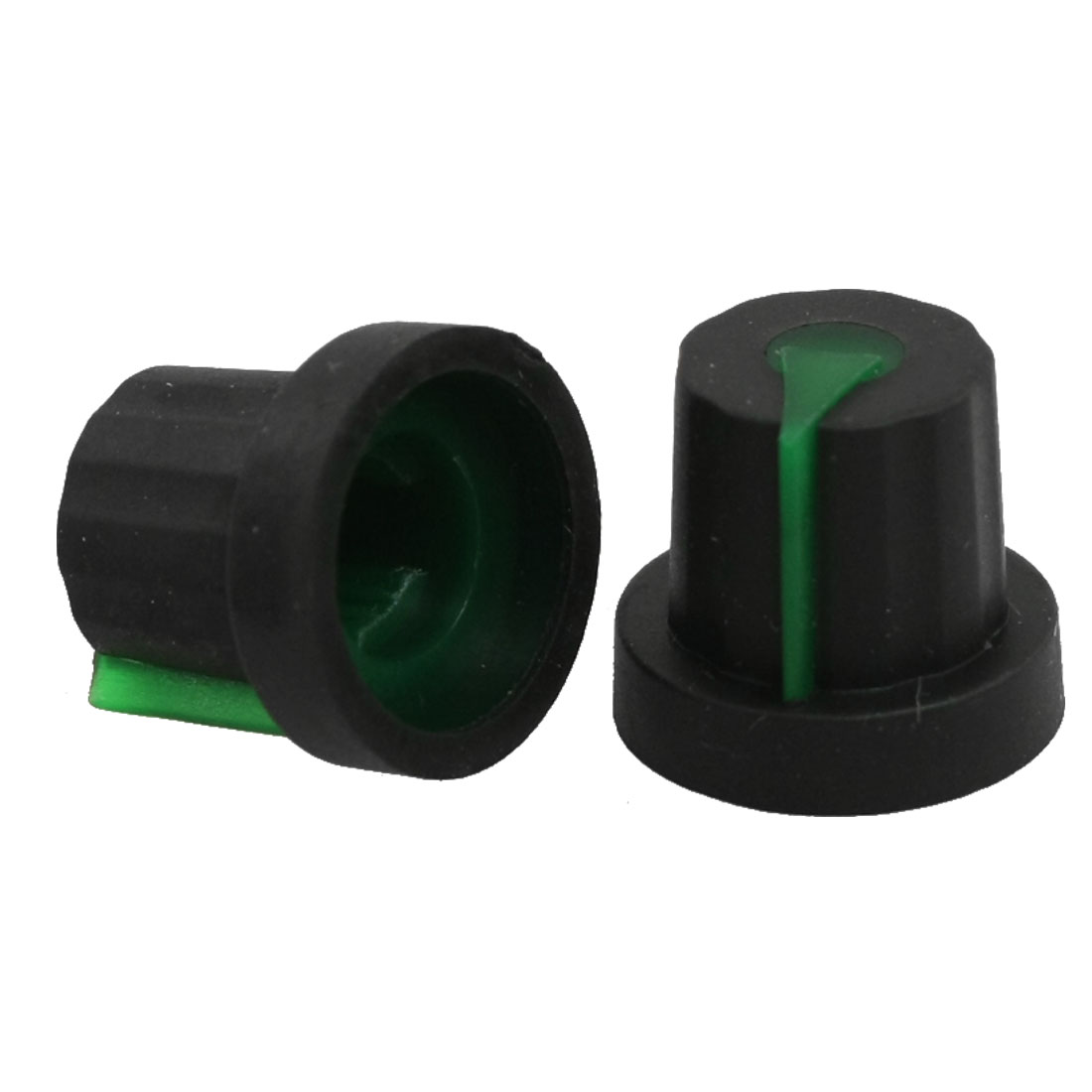 10 Pcs Rubber Coated Plastic 6mm Shaft Dia Knurled Grip Potentiometer Knobs