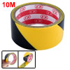 32.8Ft 10 Meters Black Yellow Floor Adhesive Hazard Warning Caution Safety Stripe Tape
