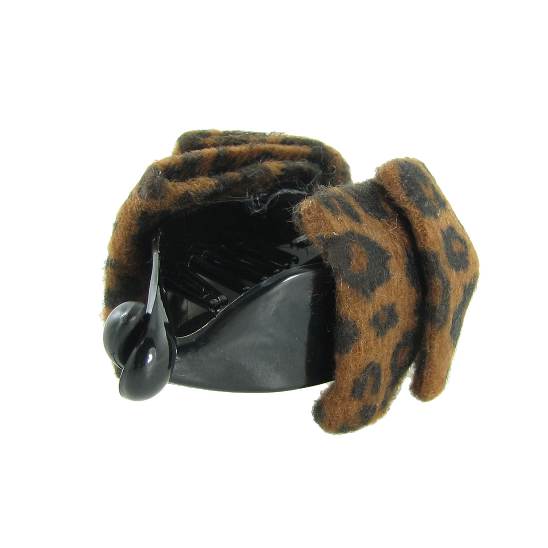 Coffee Color Leopard Prints Plastic Hairpin Hair Claw Clip Decoration for Ladies