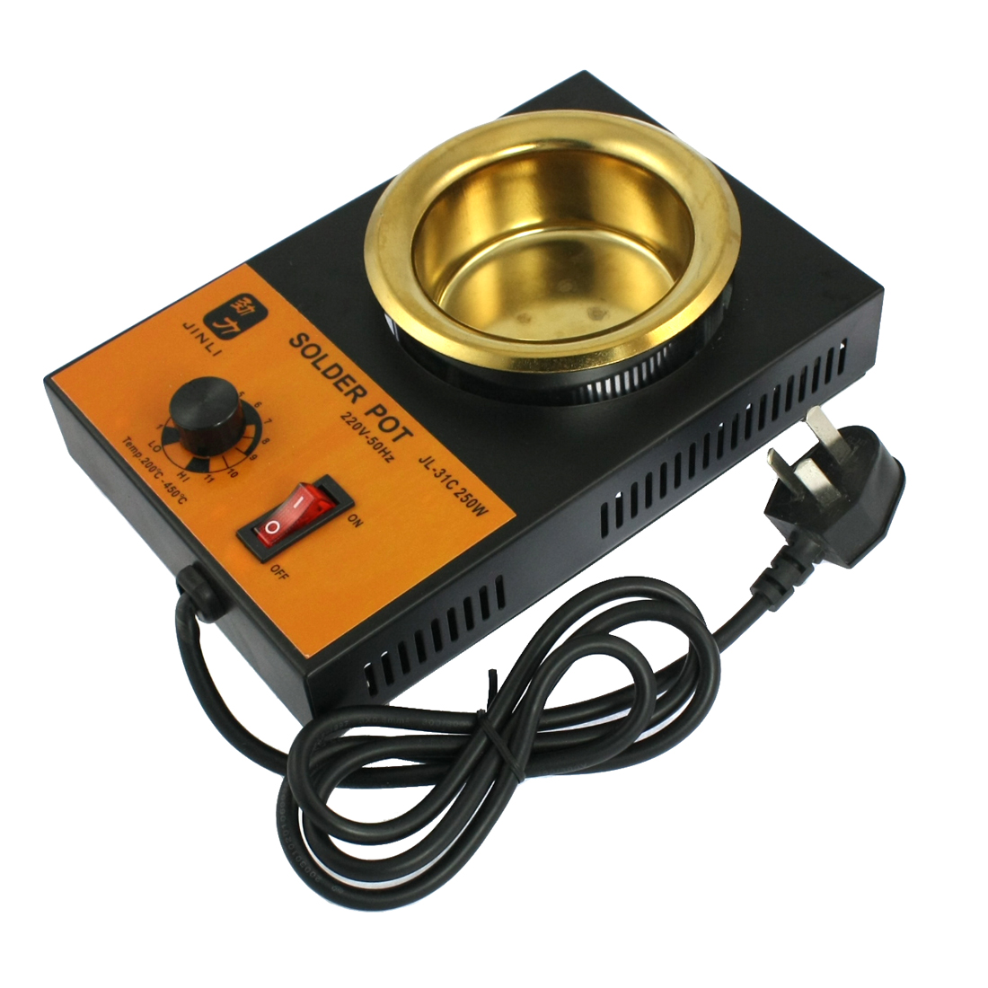 Temperature Controlled Lead Free Solder Pot Soldering Desoldering Bath 80mm AC 220V 250W AU Plug