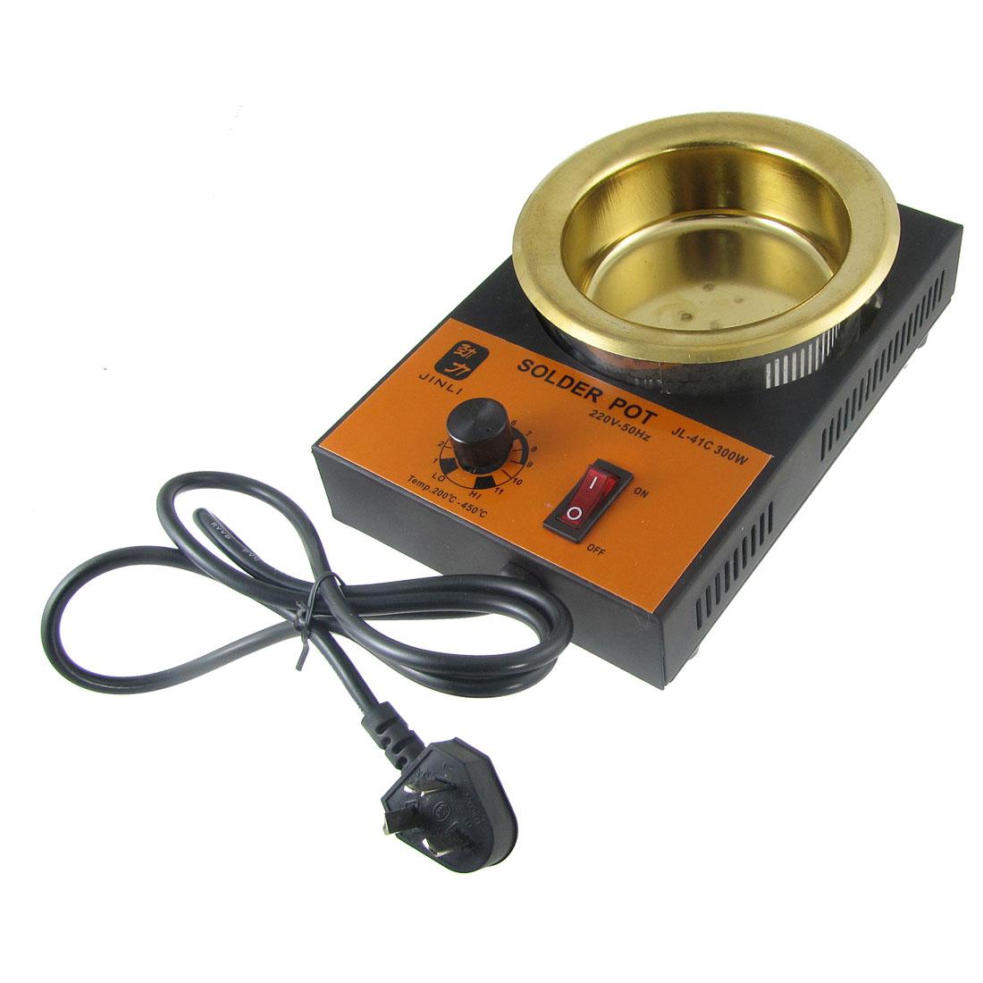 Solder Pot Soldering Desoldering Bath 100mm 220V 300W AU Plug