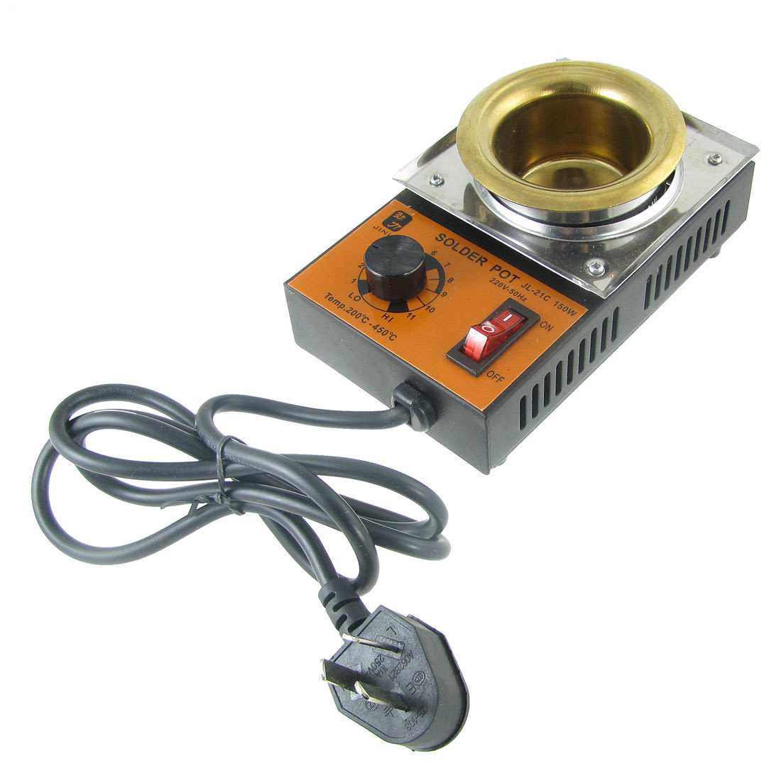 AU Plug AC 220V 150W Temperature Adjustable Stainless Steel Solder Pot