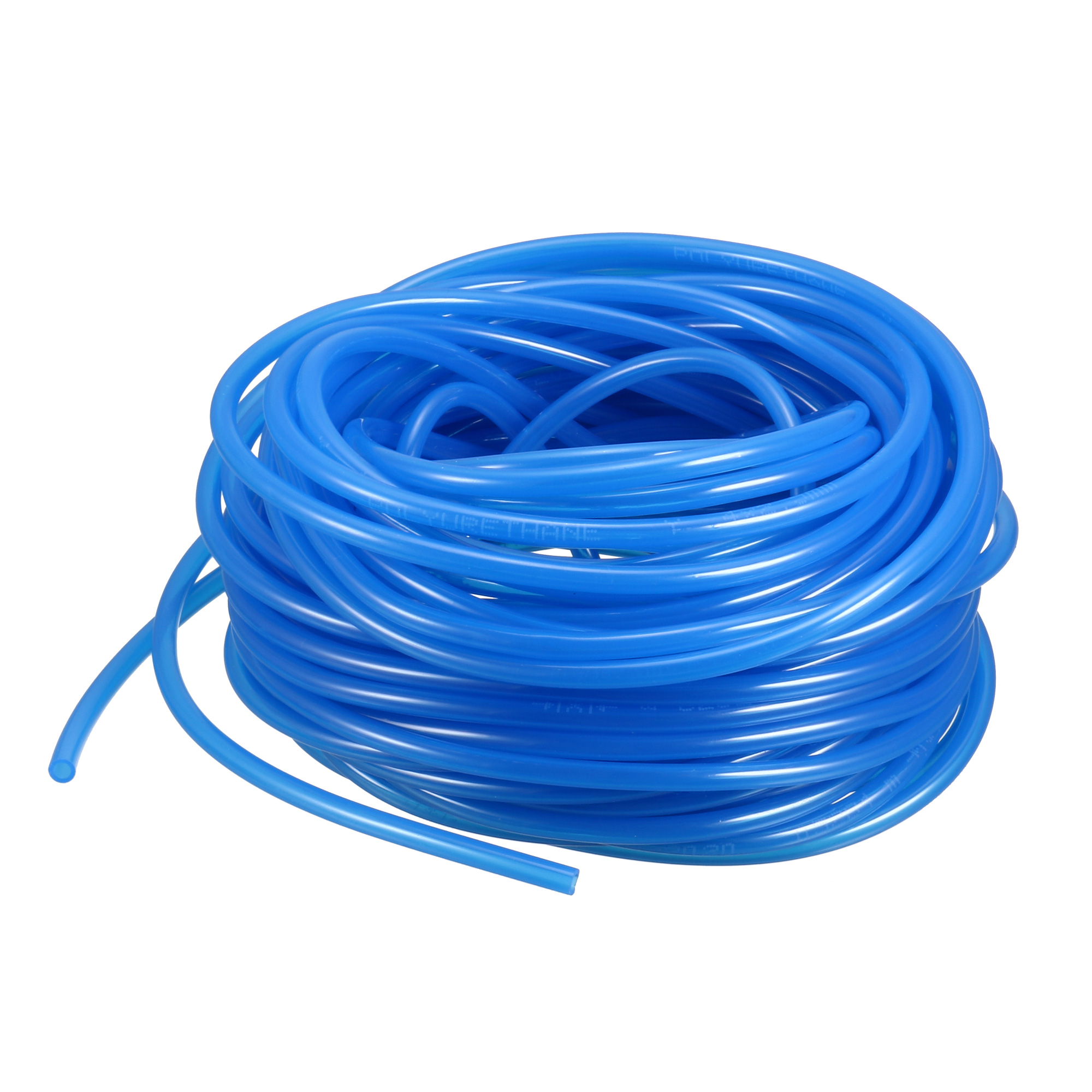 15M 49.2Ft 4mm x 2.5mm PU Polyurethane Air Tubing Tube Pipe Blue