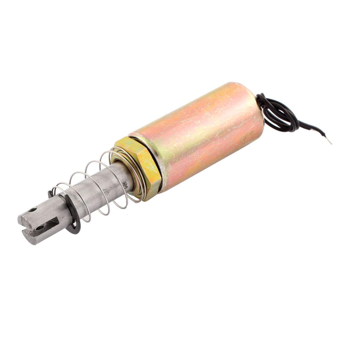 DC 12V 10mm 1Kg Pull Type Solenoid Electromagnet w Spring Plunger