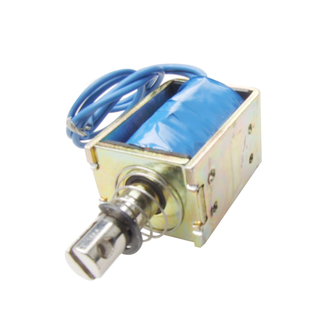 DC 24V 1A Open Frame Linear Push Type Solenoid Electromagnet 15N Holding