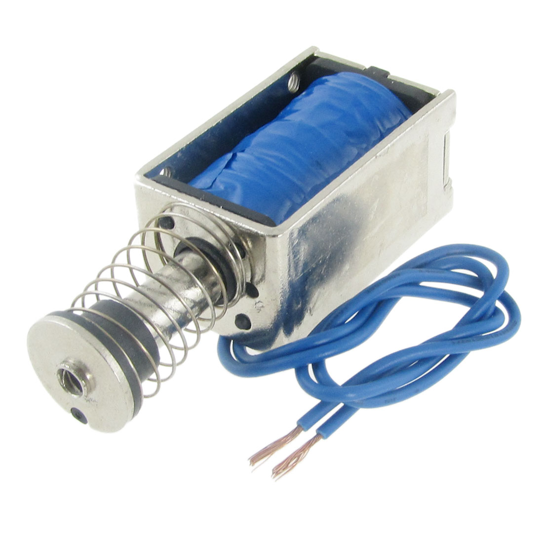 12V DC Direct Current Open Frame 45N Electromagnet Solenoid 10mm Stroke