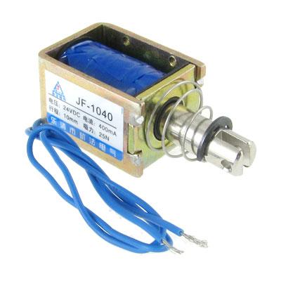 DC 24V Pull Type Open Frame Solenoid Electromagnet Actuator 10mm 25N