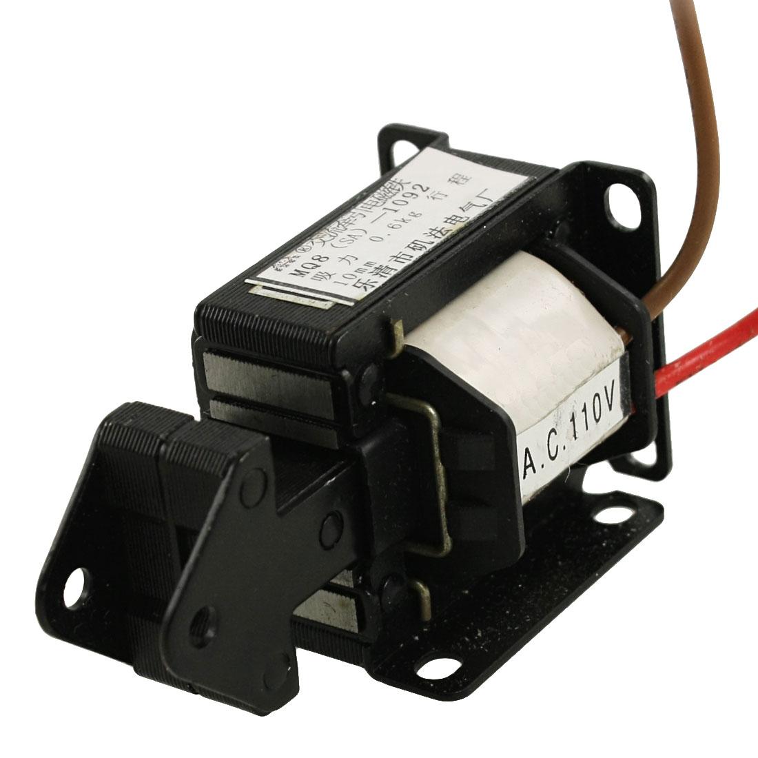 Pull Type AC 110V 10mm Stroke 0.6Kg Force Solenoid Electromagnet