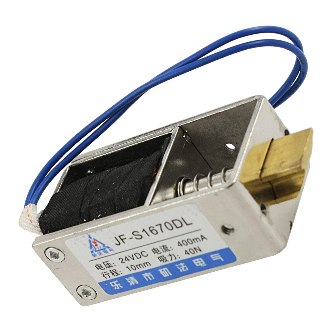 DC 24V 400mA Open Frame Electromagnet Solenoid 10mm 40N