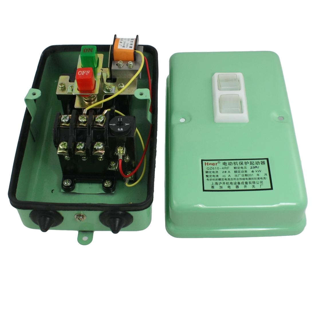 120-430V Coil Shunt Trip Motor Starter Protector 3Pole 6.8-11A 5.4HP