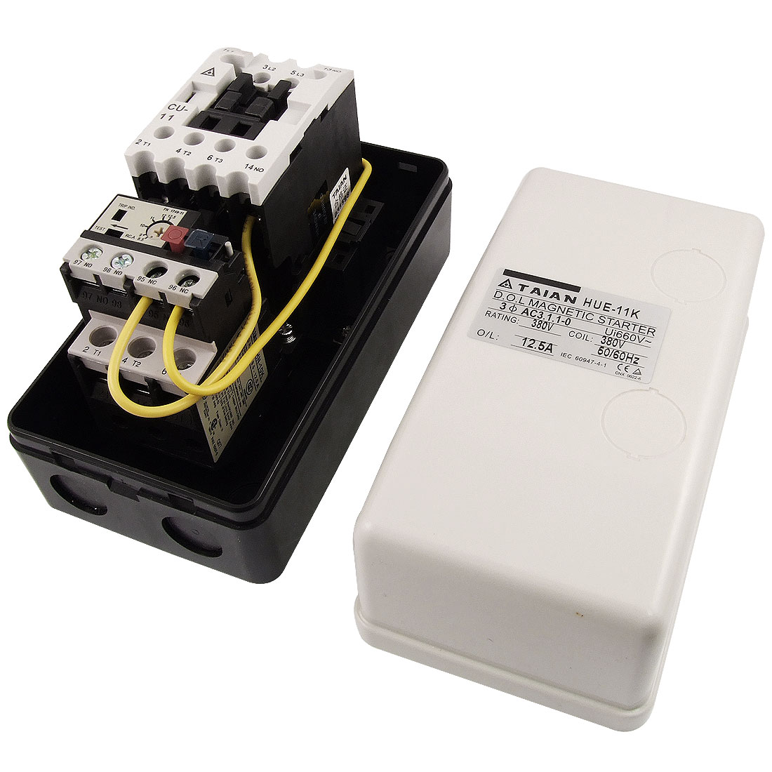 380V AC Coil Three Phase Magnetic Starter Motor Control 8.5-12.5A 3Pole