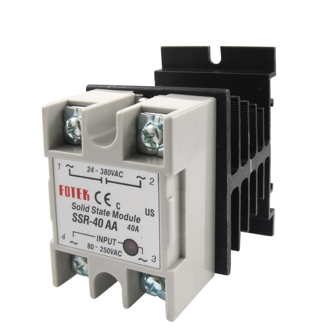 AC-AC Single Phase Solid State Relay SSR-40A 80-250V 24-380V w heat sink