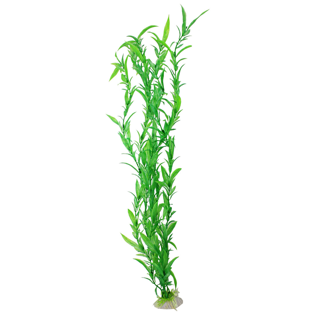 "20"" Long Green Leaf Plastic Plants Decoration for Aquarium"