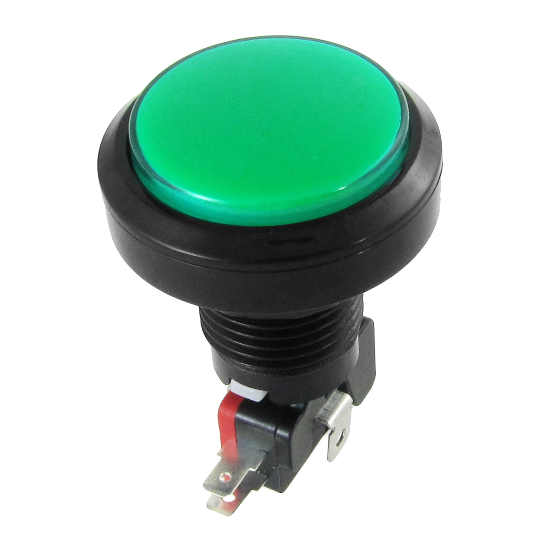 12V DC LED Light Illuminated Green Round Momentary Push Button Switch 1 NO 1 NC