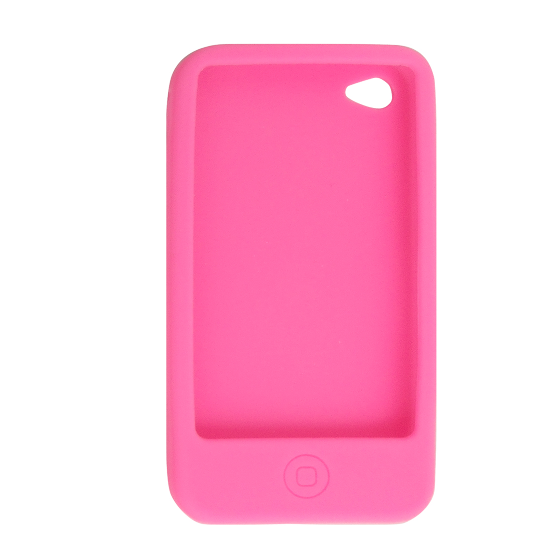 Hot Pink Soft Silicone Press Key Design Case for Apple iPhone 4 4G