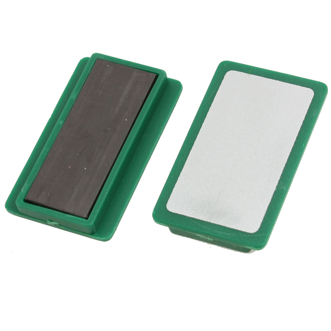 School Whiteboard 5cm x 3cm Magnetic Stripes Fixed File Tool Green 4 Pcs