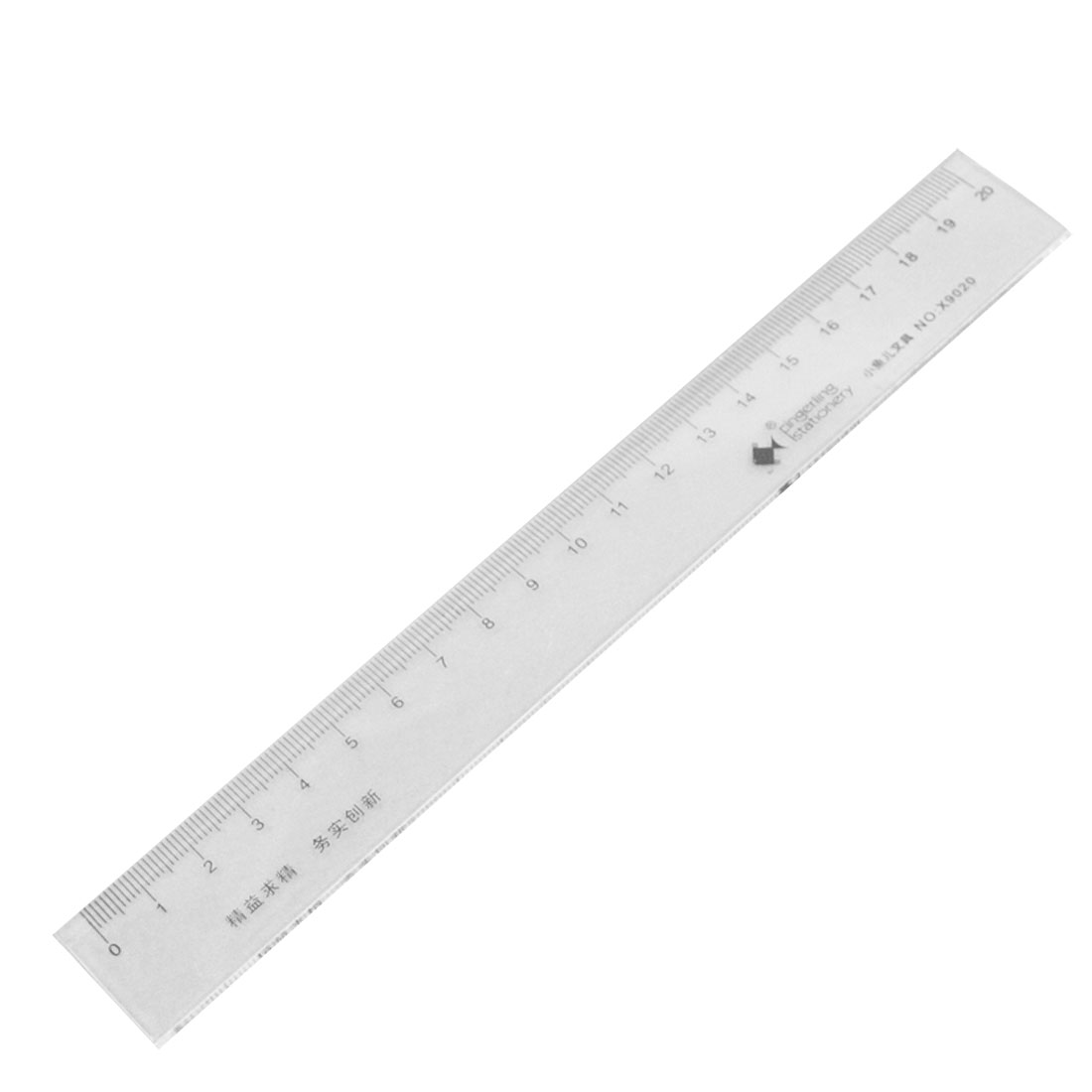 20cm 7.8 Inch Length Measure Clear Plastic Straight Edge Ruler 2 Pcs