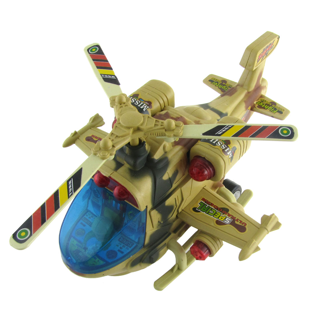 Battery Powered Light Sound Helicopter Model Educational Toy