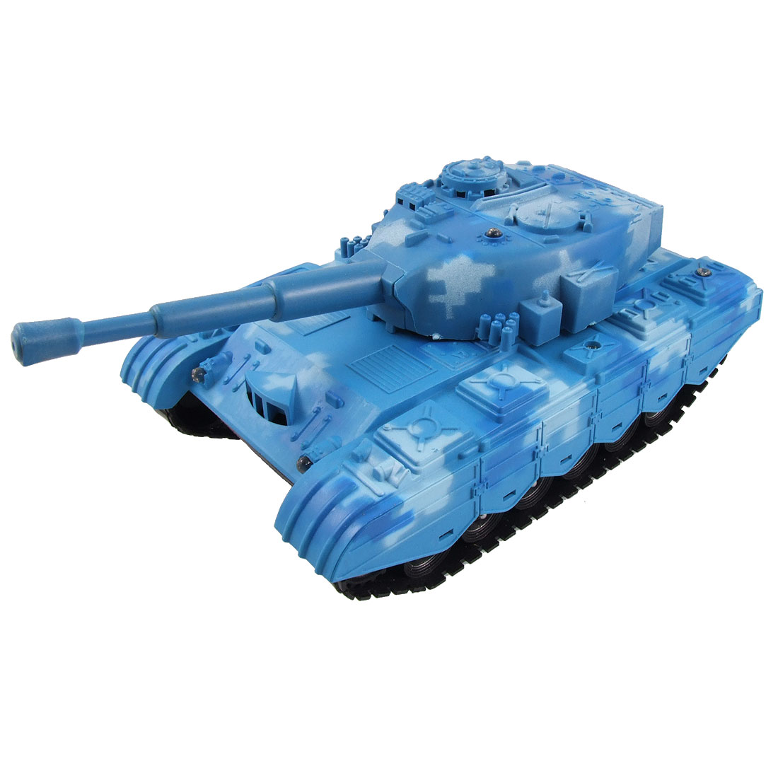 Children Battery Power 6 LED Flash Light Electric Panzer Tank Toy Blue