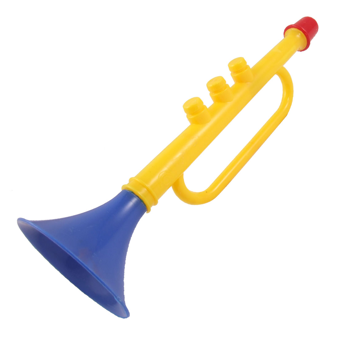 Plastic Match Horn Trumpet Toy Blue Yellow for Children