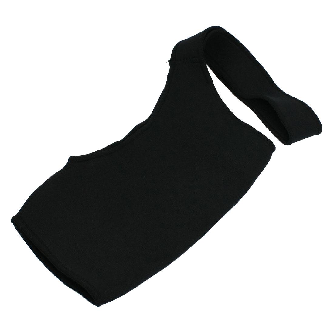 Black Soft Neoprene Elastic Sports Brace Shoulder Support for Men