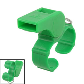 Green Plastic Sports Game Match Referee Finger Grip Whistle