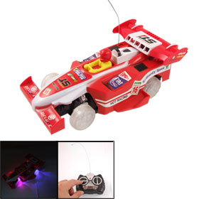 Children Collectible 4 LED Flash Light Electric Remote Control Racing Car