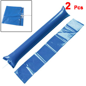 2 Pcs Plastic Inflatable Match Cheer Balloons Bang Bar Blue