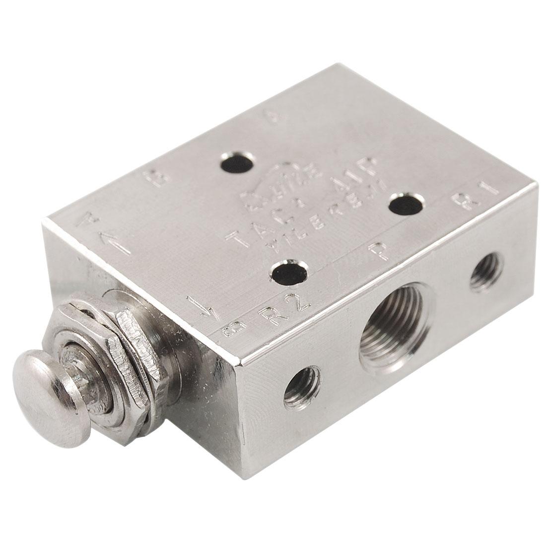 Pneumatic 2 Position 3 Way Spring Return Push Button Air Valve TAC2-41P