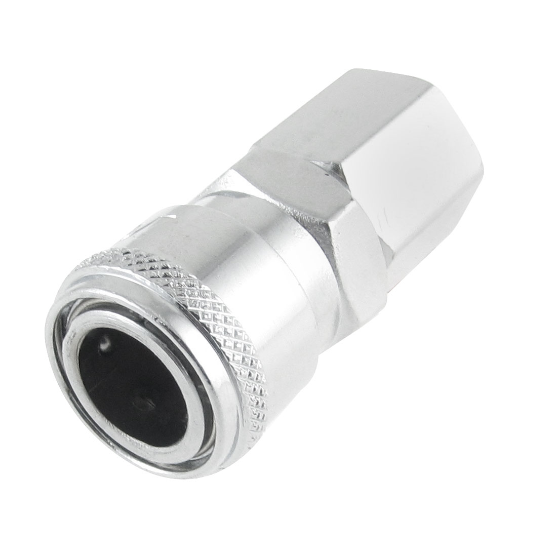 "0.47"" Female Thread Air Quick Release Silver Tone Metal Coupler Fittings SF20"