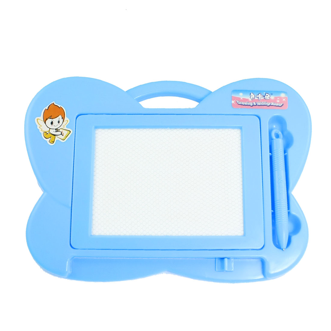Children Blue Plastic Butterfly Shaped Erasable Magnetic Writing Board