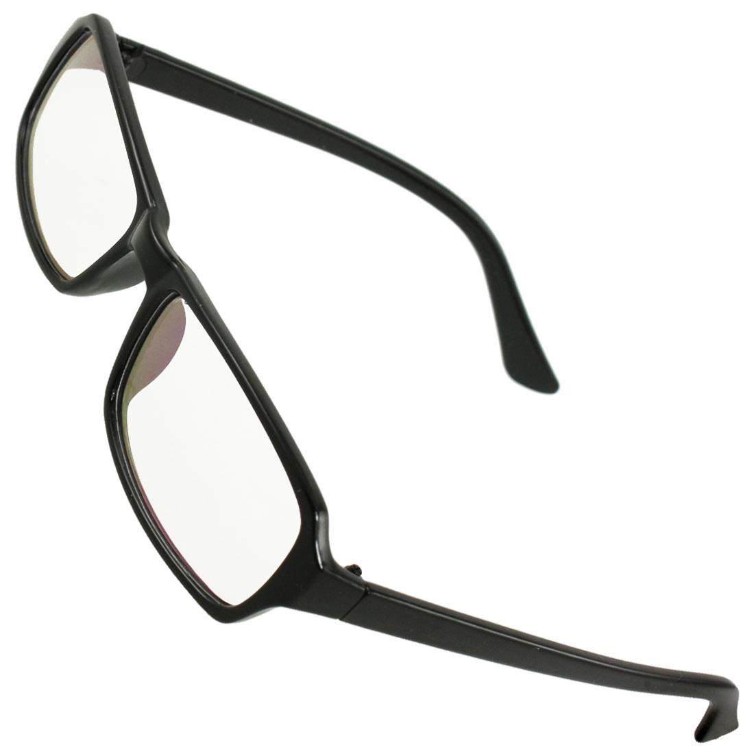 Women Black Plastic Arms Full Frame Multi Coated Lens Plain Glasses