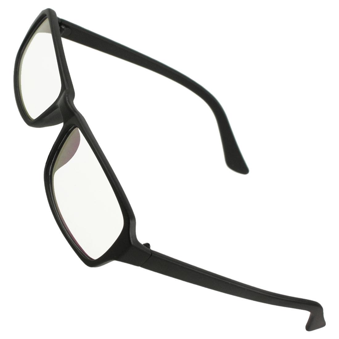 Ladies Black Rubberized Full Frame Multi Coated Lens Spectacles Glasses