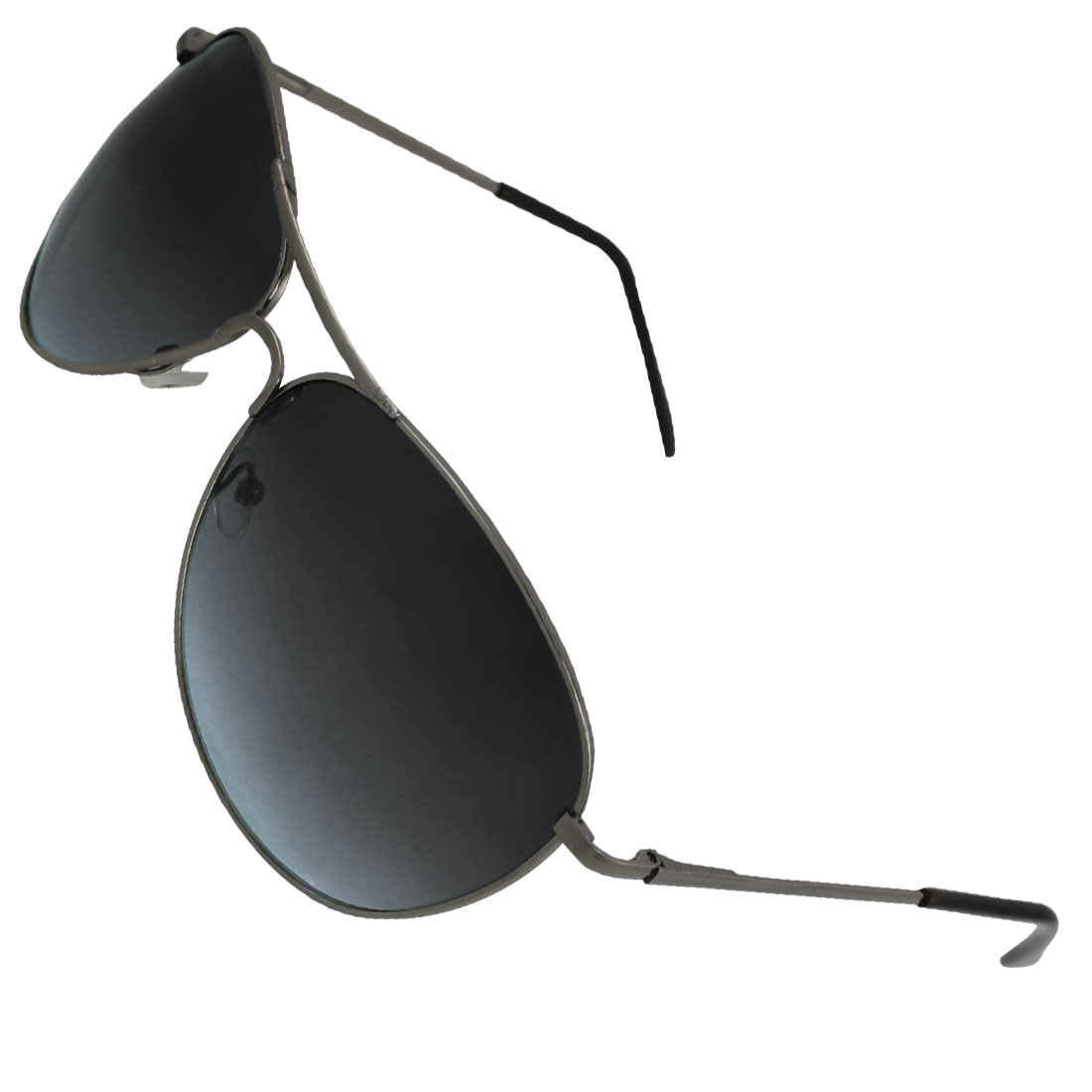 Man Black Plastic Gray Metal Arms Gradient Raindrop Style Lens Sunglasses