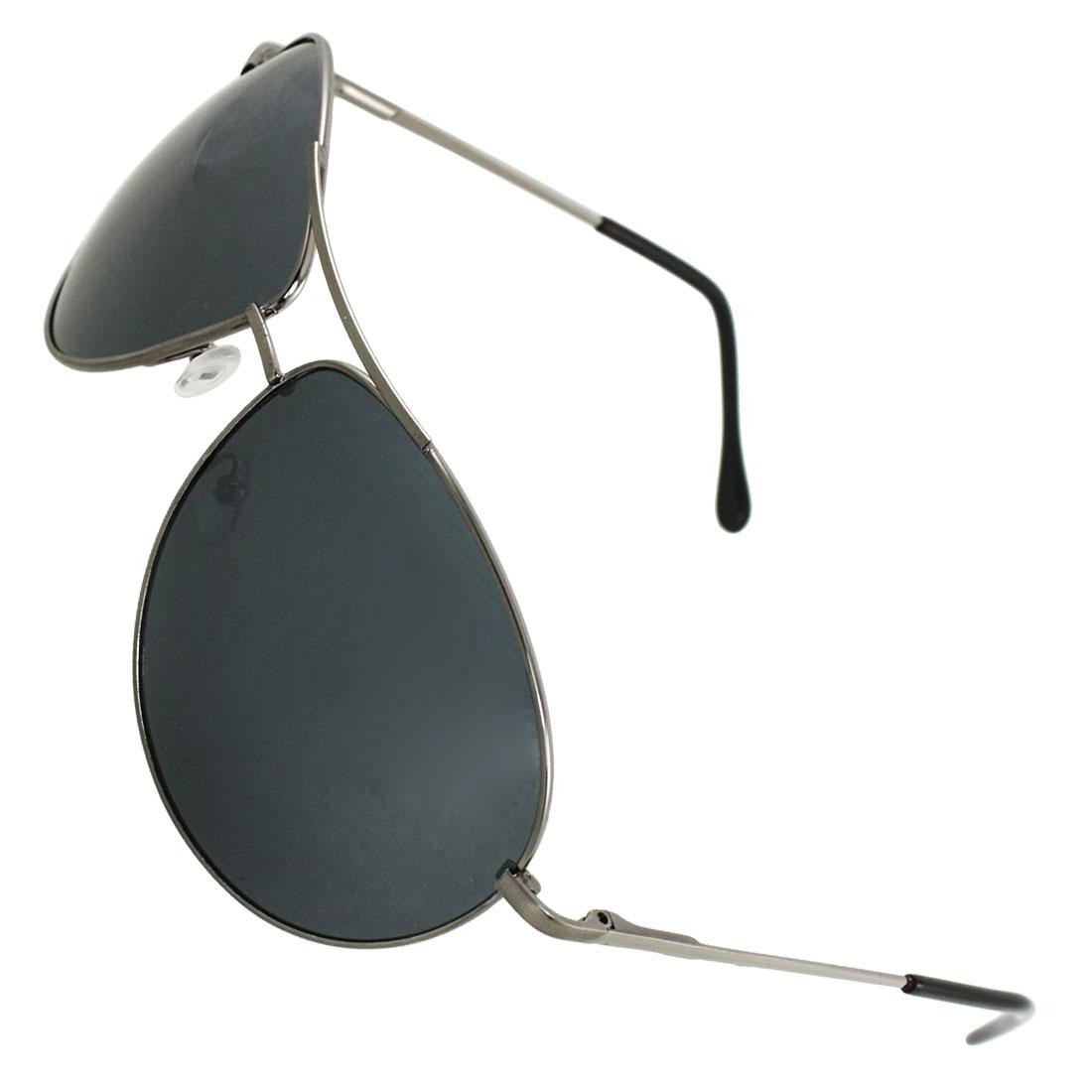 Men Metal Full Frame Colord Lens Double Bridge Sports Sunglasses