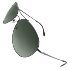 Men Dark Water Drop Lens Dual Bridge Gray Metal Full Frame Sunglasses