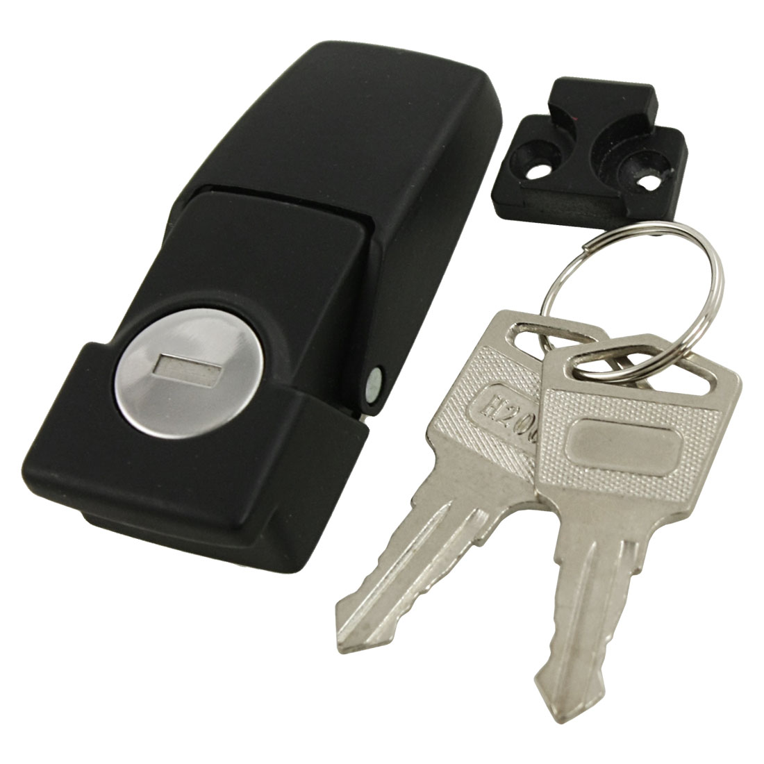 Cabinets Safety Toggle Hasp Latch Lock w Two Keys