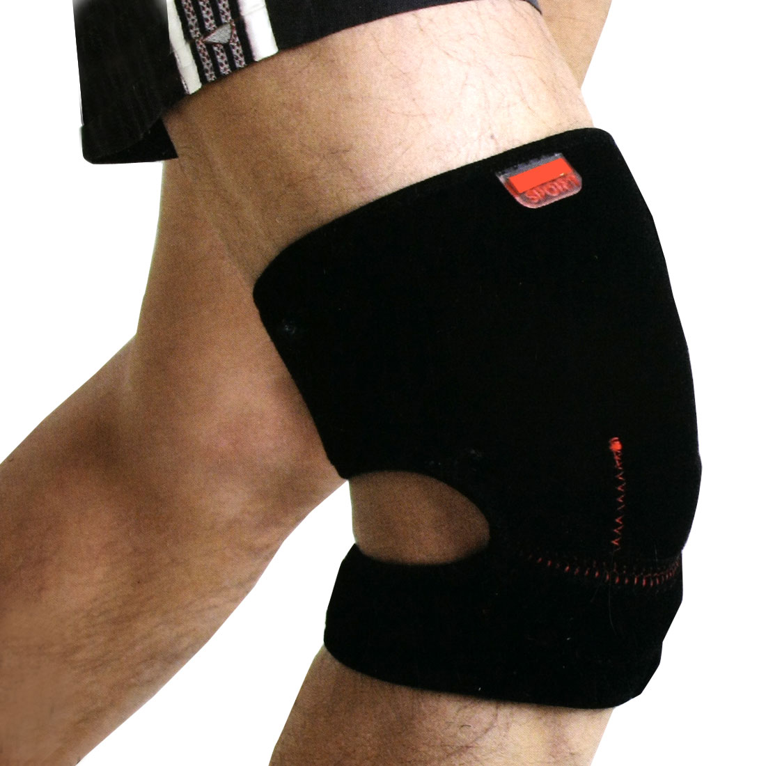 Detachable Closure Adjustable Black Elastic Elbow Support Protector