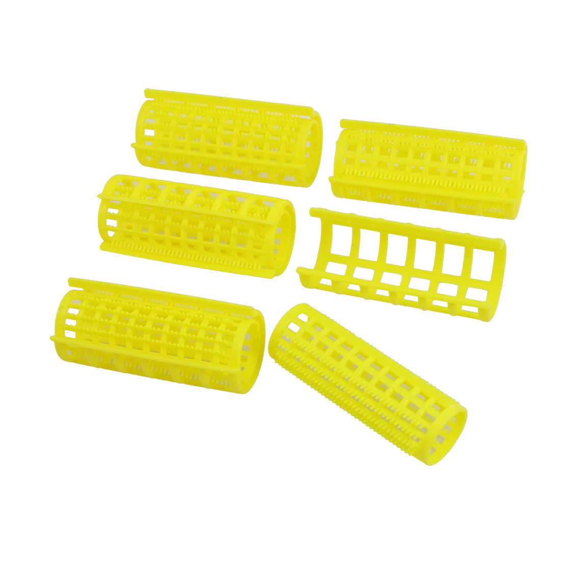 5 Pcs DIY Curler Hairdressing Plastic Hair Curling Roller Tool Yellow