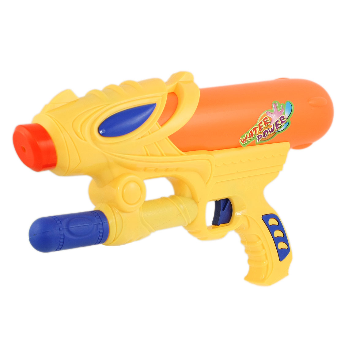 Children Yellow Orange Plastic Hand Pump Pressure Water Gun Fight Toy 12""