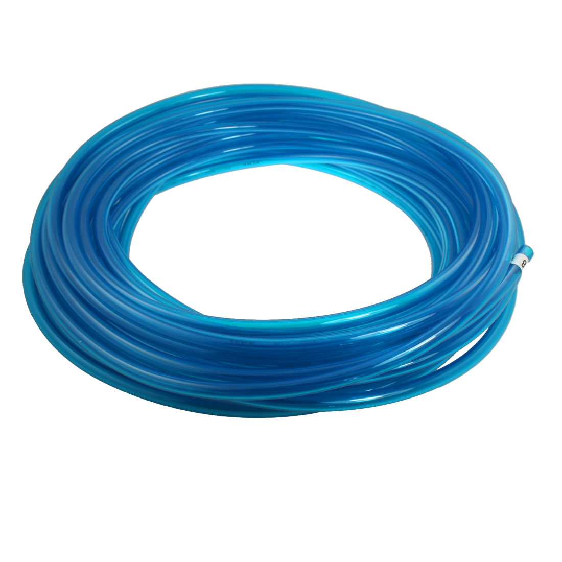 12mm x 8mm Air Pneumatic Polyurethane PU Hose Tube Pipe 25M 82Ft Clear Blue