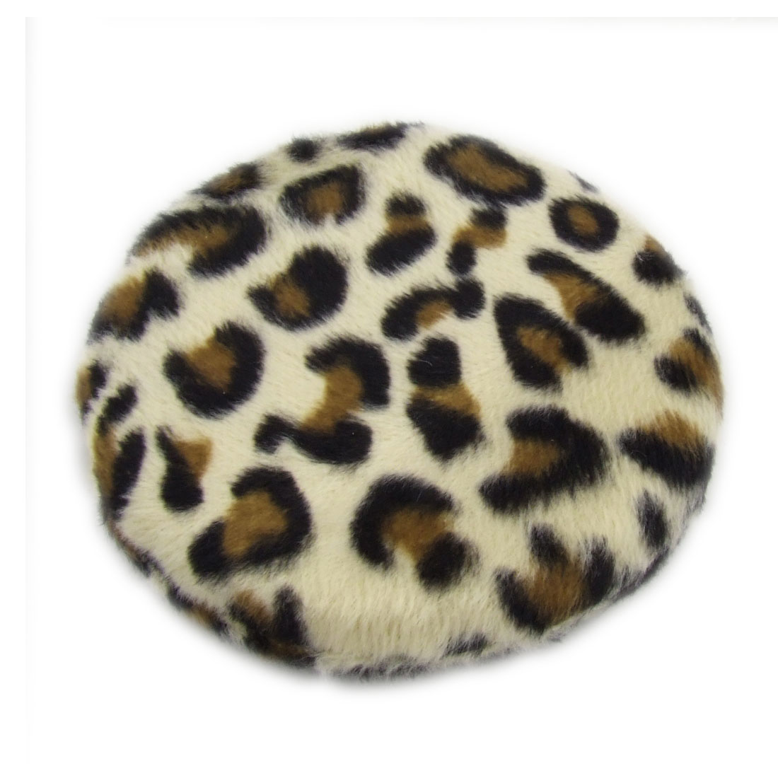 Round Leopard Pattern Facial Makeup Powder Puff Pad for Lady