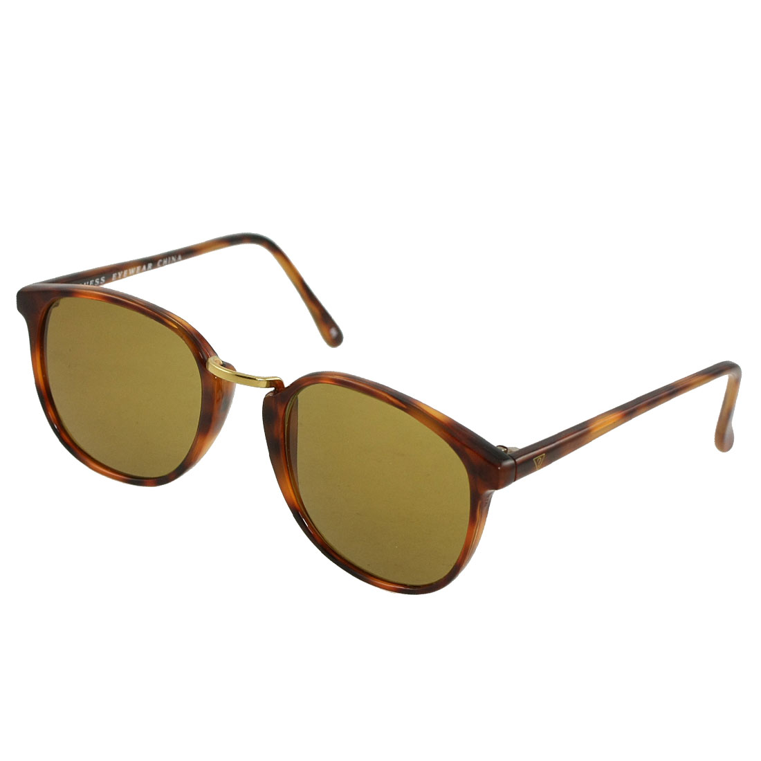 Tan Lens Full Frame Plastic Sunglasses for Woman Man
