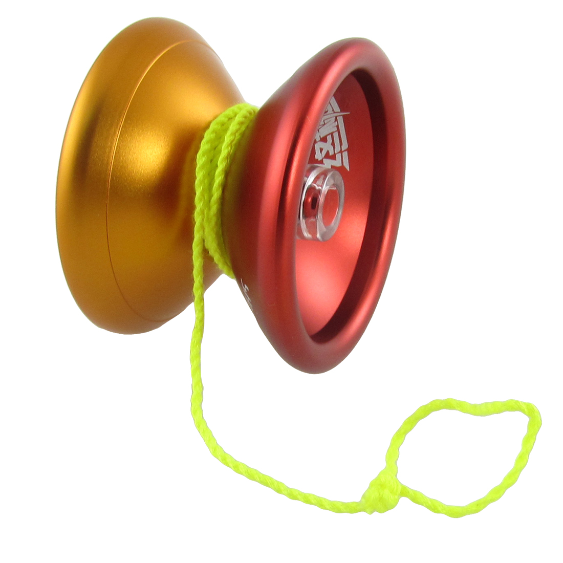 Children Red Gold Tone Metal Yoyo Ball Wheel Toy w String
