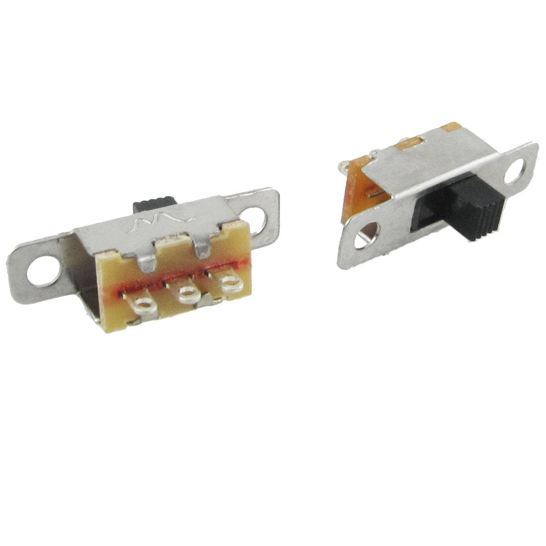5 Pcs x On-Off 2 Position SPDT 1P2T Panel Mini Slide Switch Solder Lug SS12F15G3